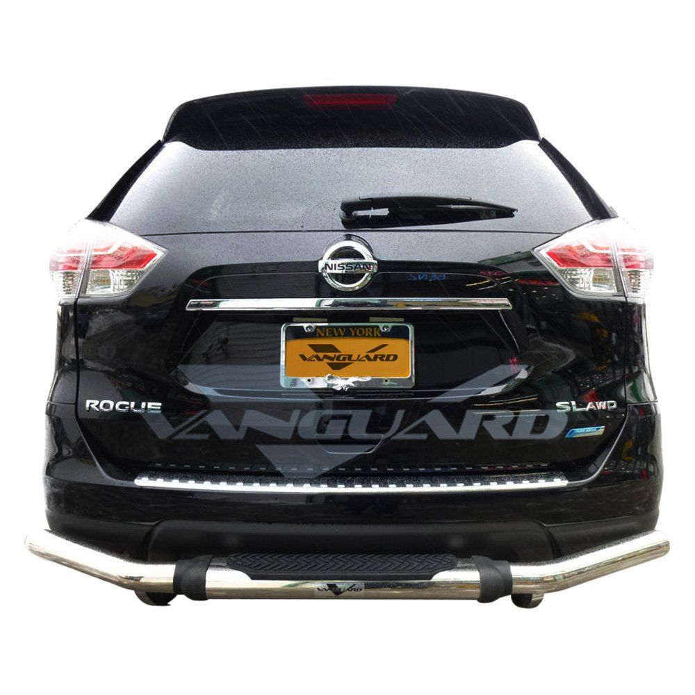Vanguard Off Road Pintle Style Single Tube Polished Rear Bumper Guard With Images Bumpers Mini Van Offroad