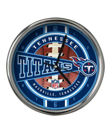 The Memory Company Tennessee Titans Chrome Clock | Tennessee titans