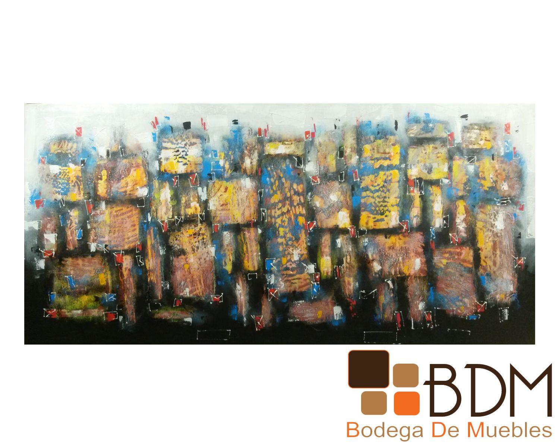 Cuadro Abstracto Artem Fielka www.bodegademuebles.com