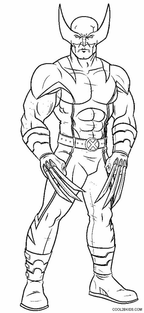 Wolverine Coloring Pages Coloring Book Pages Avengers Coloring