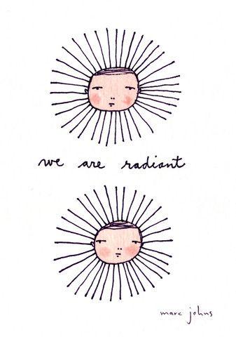 we are radiant - Original Marc johns