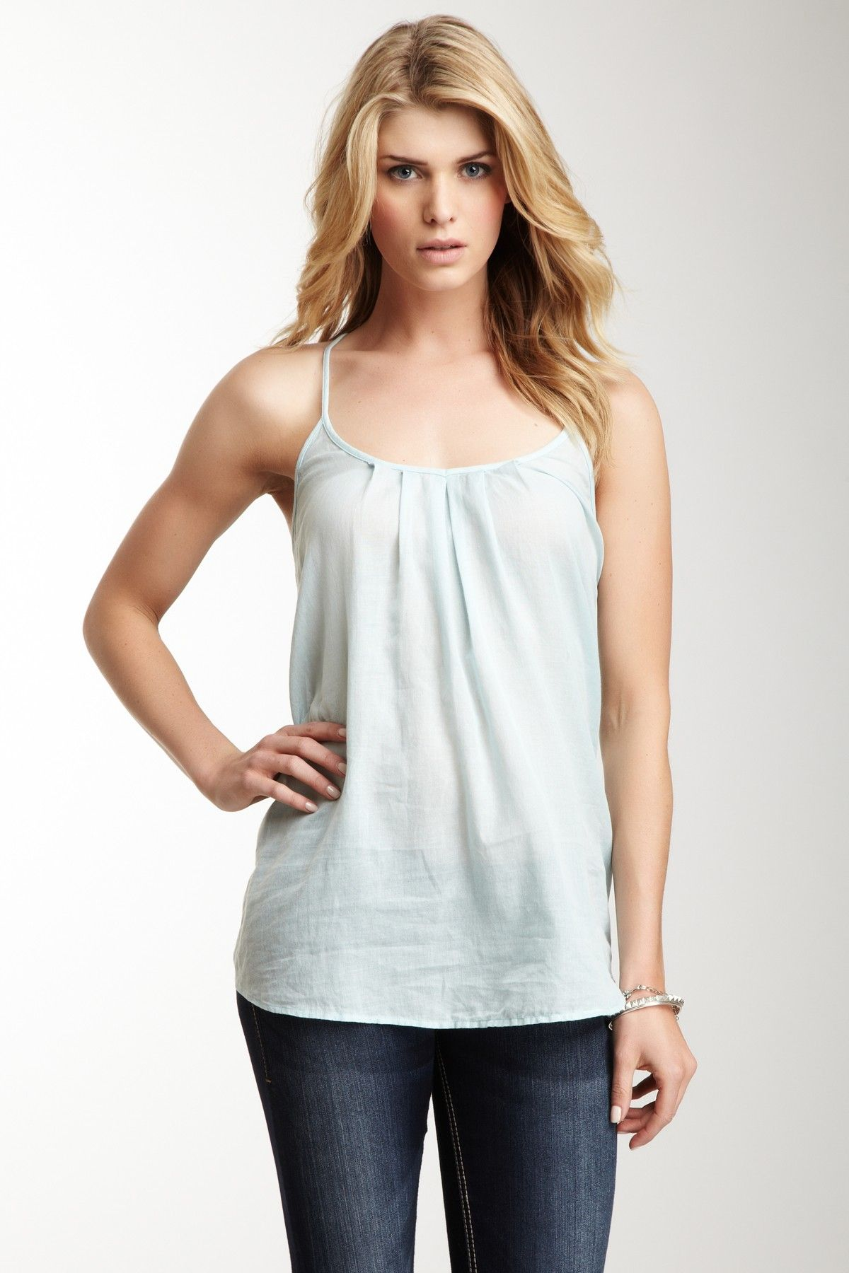Sheer Chambray Top on HauteLook