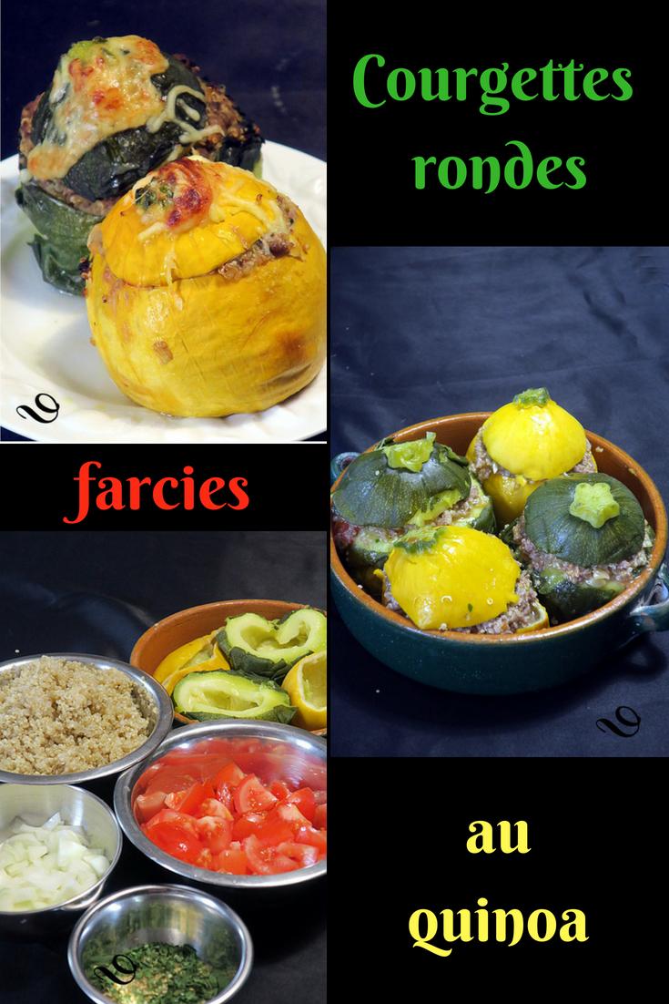 Courgettes rondes farcies au quinoa   Courgette ronde farcie, Courgette ronde et Courgette