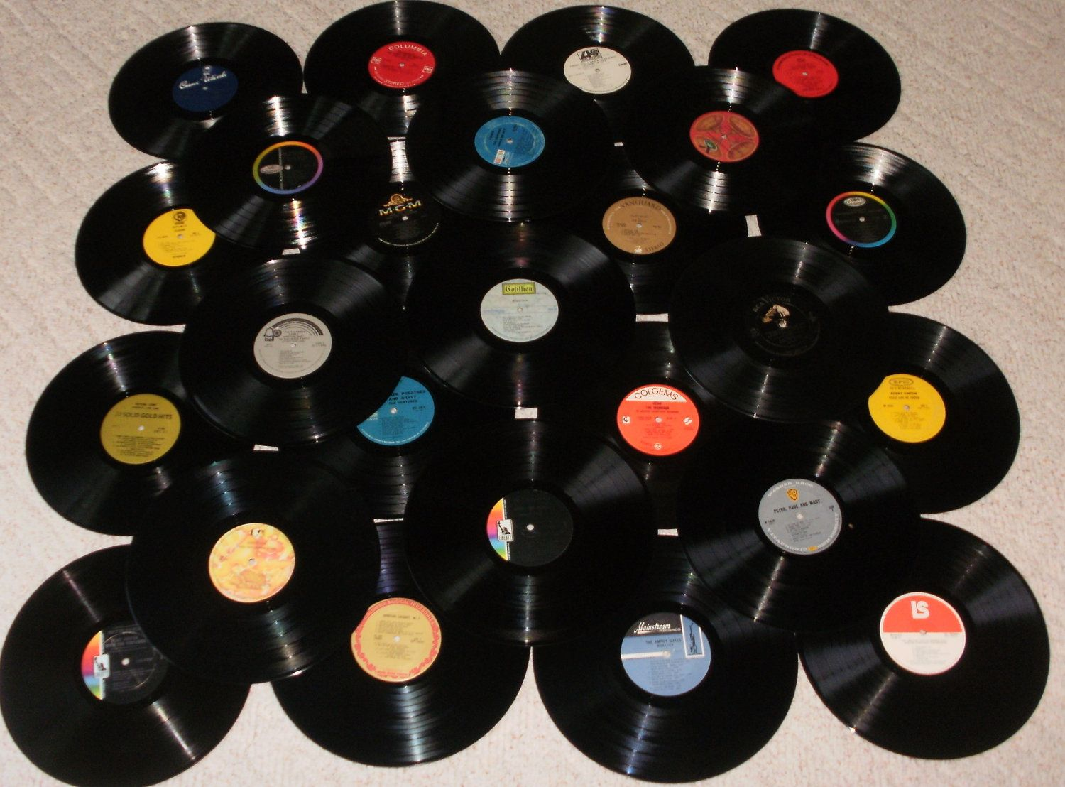1960'S MUSIC -Lot of 25 Vinyl Record Albums for Decorating or Craft  Projects - 33 1/3 rpm