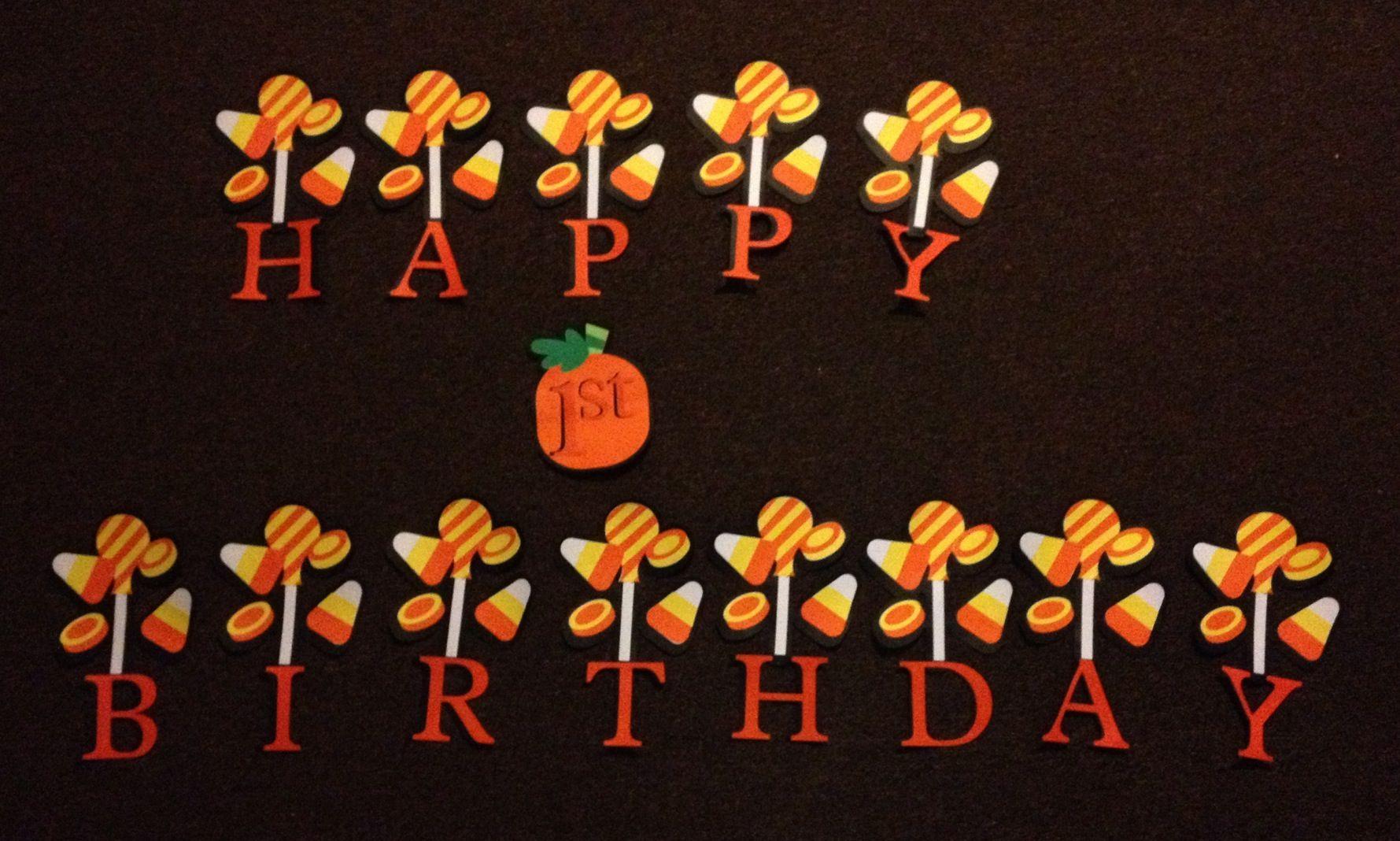 Happy 1st Birthday halloween theme Happy 1st birthdays