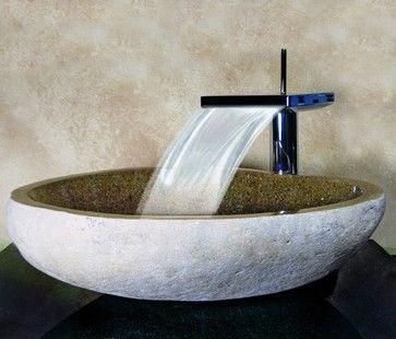Bathroom Vessel Sinks Hand Carved Boulder Sink Sand Contemporary