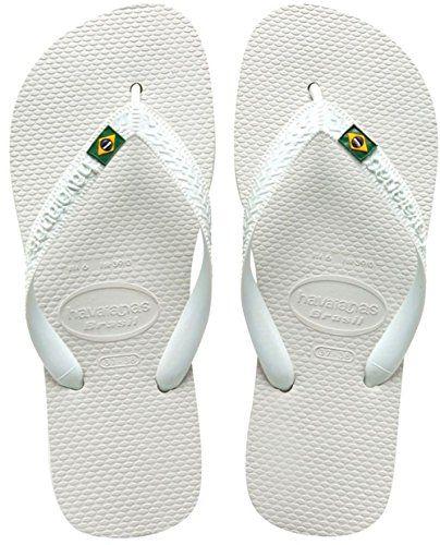 31899fc9205633 Havaianas Womens Brazil Sandal Flip Flop White 41 BR1112 W US    More info  could