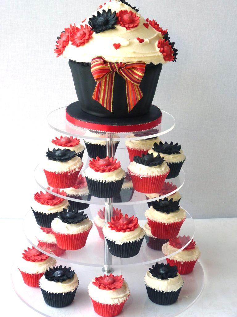Gerbera Wedding Cake Cupcake Tower