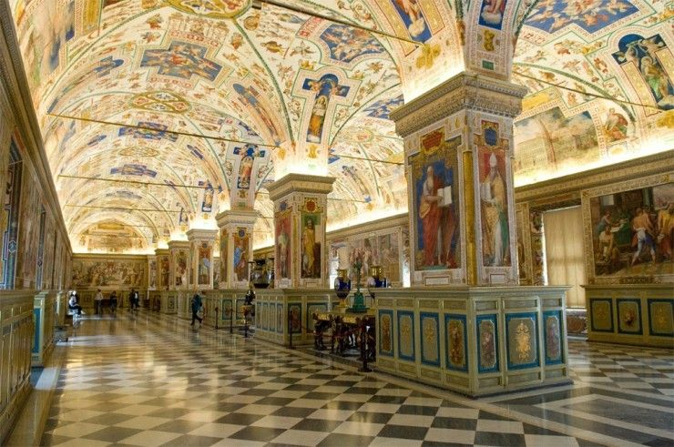 The Sistine Hall of the Vatican Library, Vatican City
