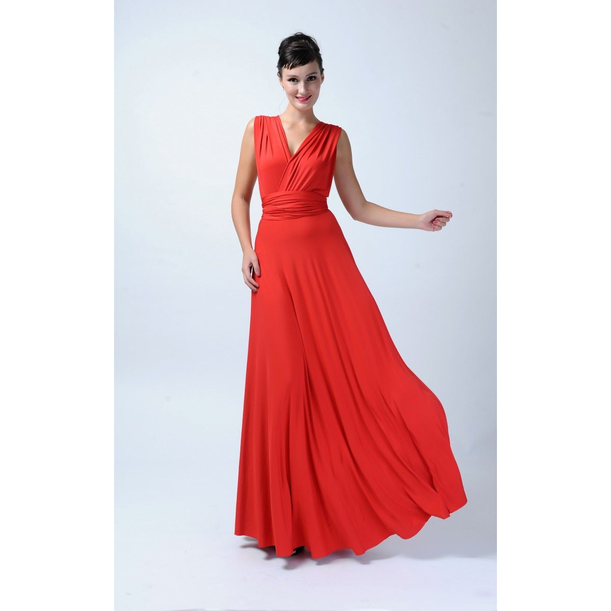 Long infinity bridesmaid dress in red long infinity dresses