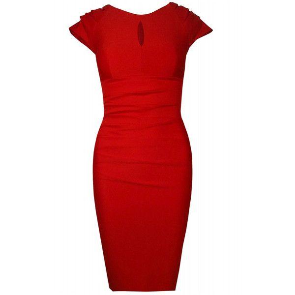 523eaf9cef036 Diva Catwalk Red Saucy Keyhole Dress - Polyvore   Sorority life ...