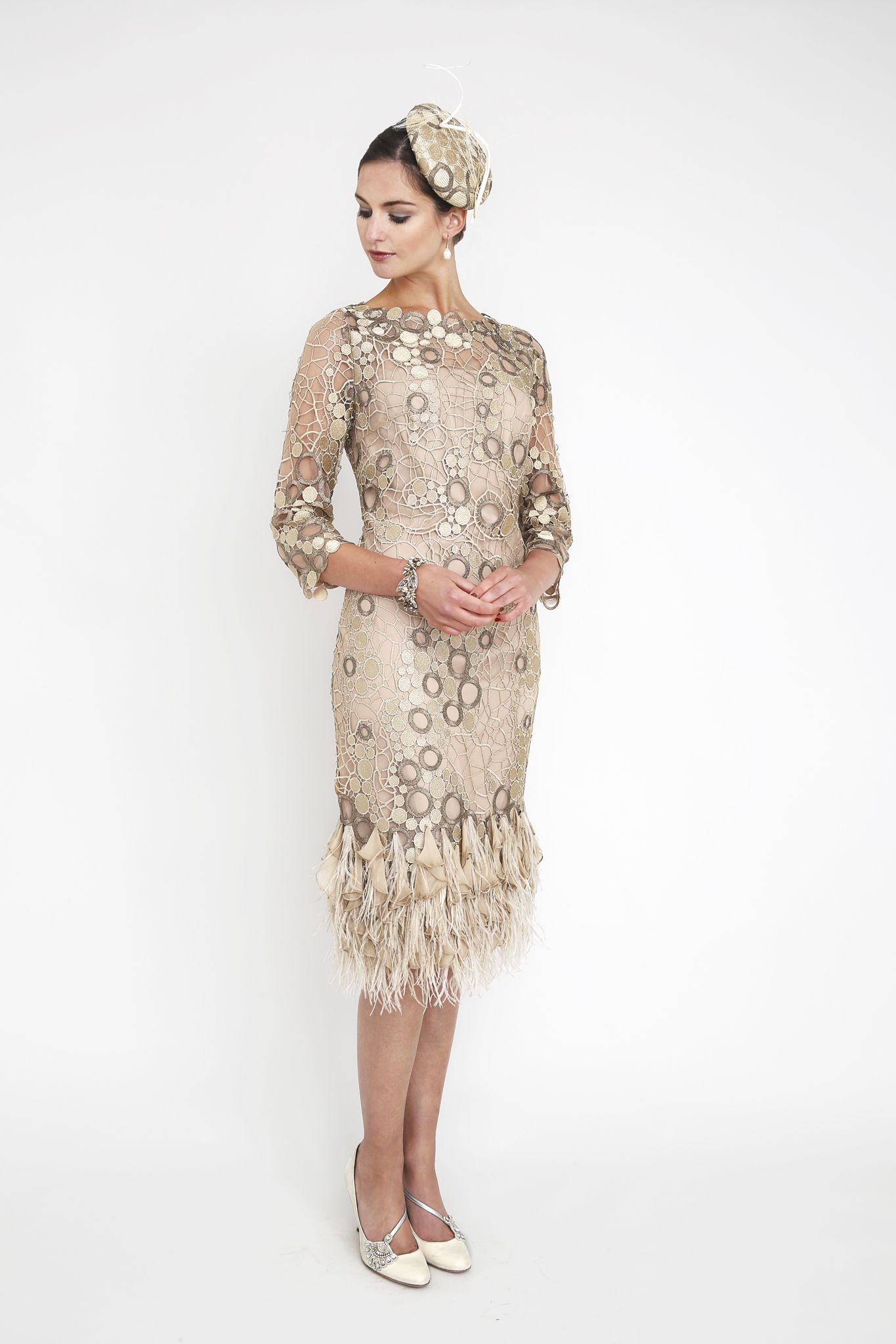 105864780ff Gill Harvey feather dress, perfect for mother of the bride/groom in ...