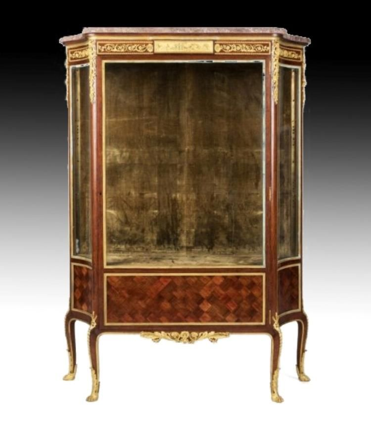 A Magnificent F Linke Louis XV-style bronze-mounted MOBILA