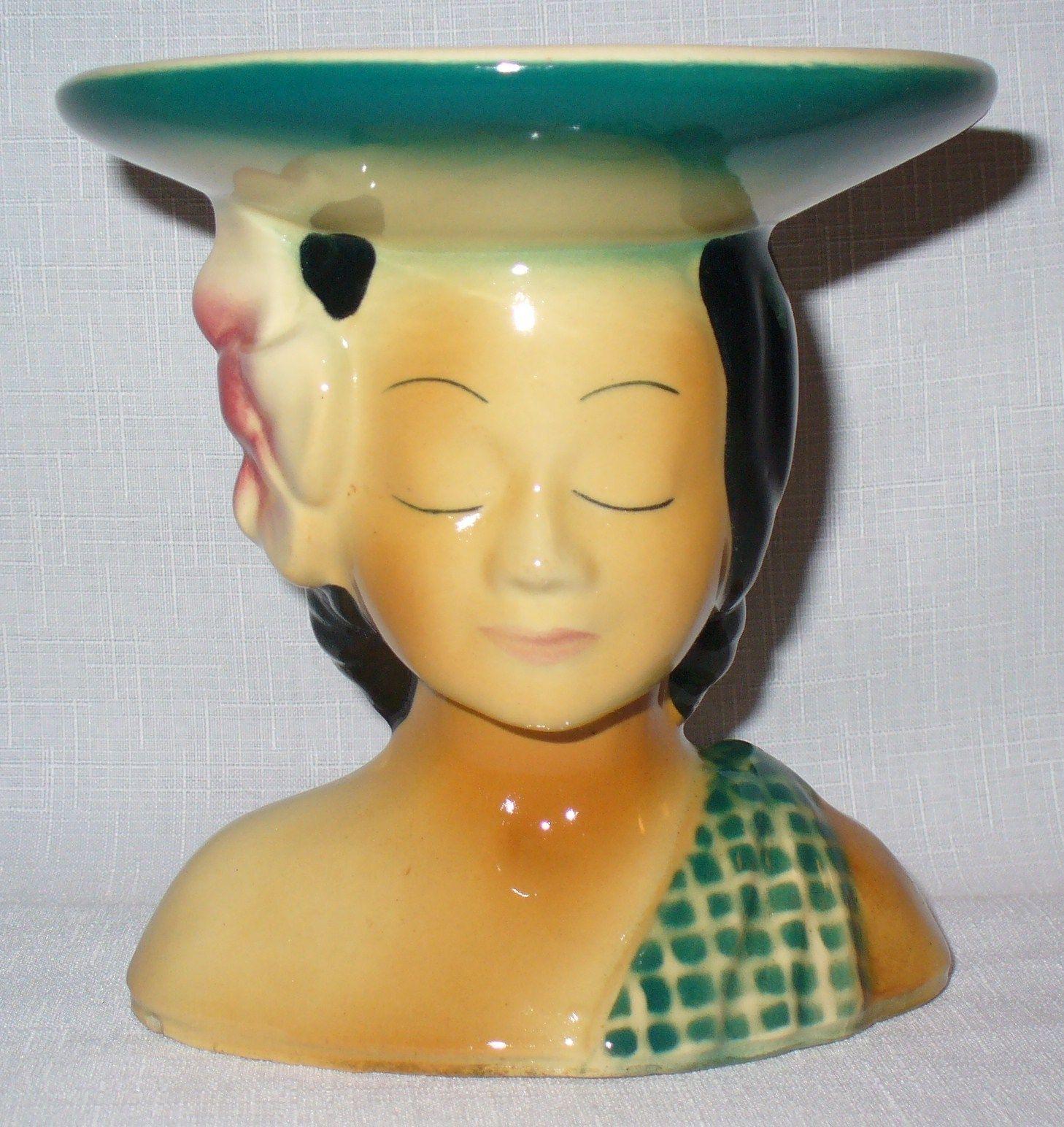 Vintage shawnee pottery hawaiian polynesian girl planter head vase vintage shawnee pottery hawaiian polynesian girl planter head vase usa 896 reviewsmspy