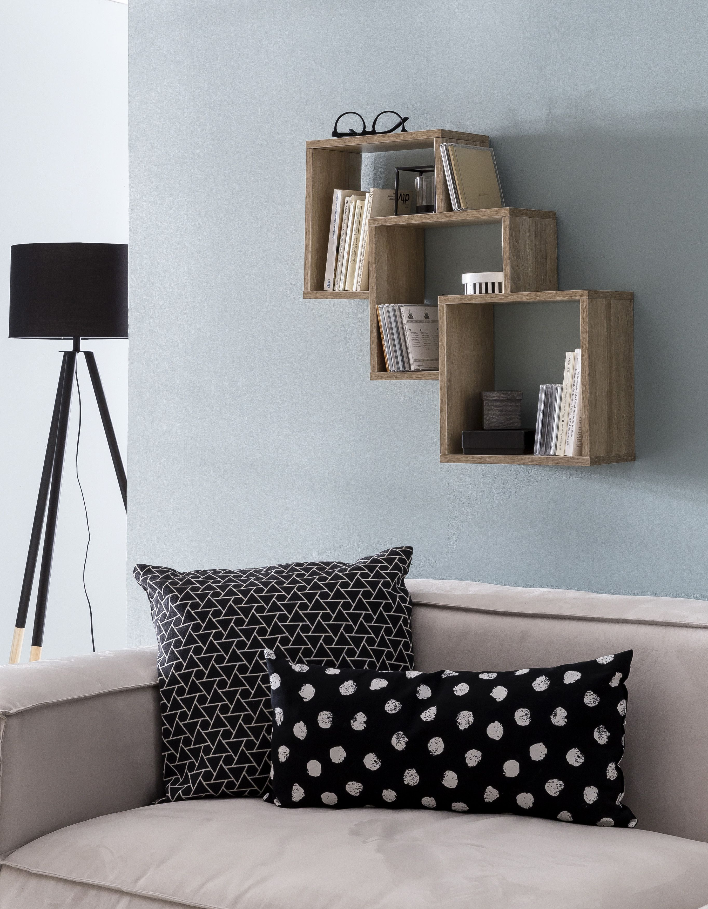 Hangeregal Wand Regal E Schwebend Cube Quadrat Deko Holzwurfel
