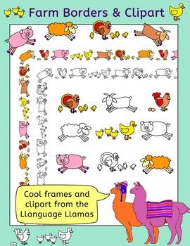 Farm Animals Border And Clip Art Clip Art Clip Art Borders Cute Borders