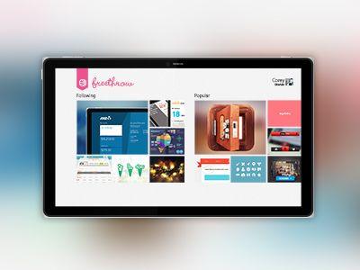 Dribbble - FreeThrow Dribbble App (Windows 8) by Corey Ginnivan