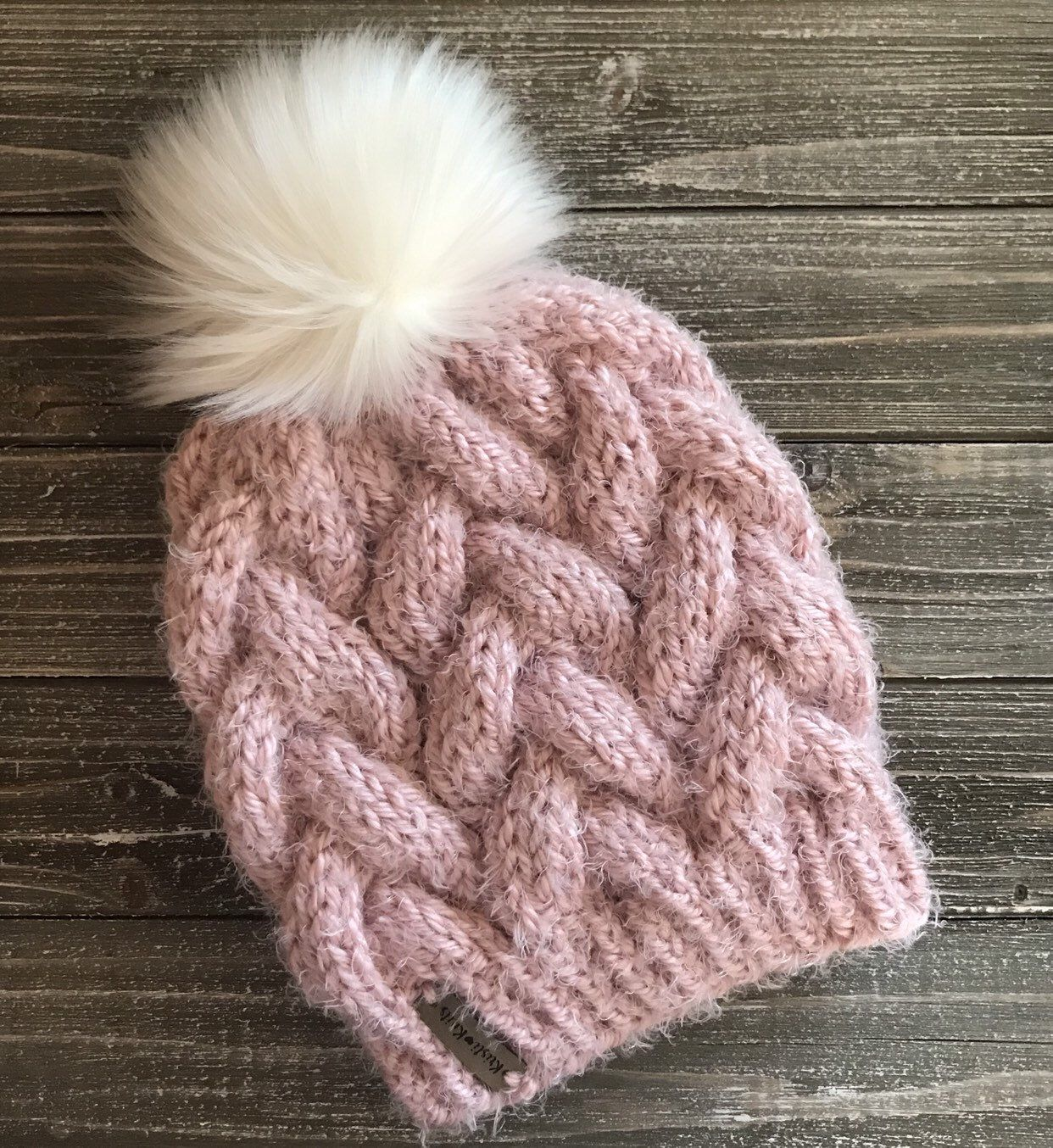 Womens Soft Chunky Braided Cable Knit Hat // Chunky Knit ...