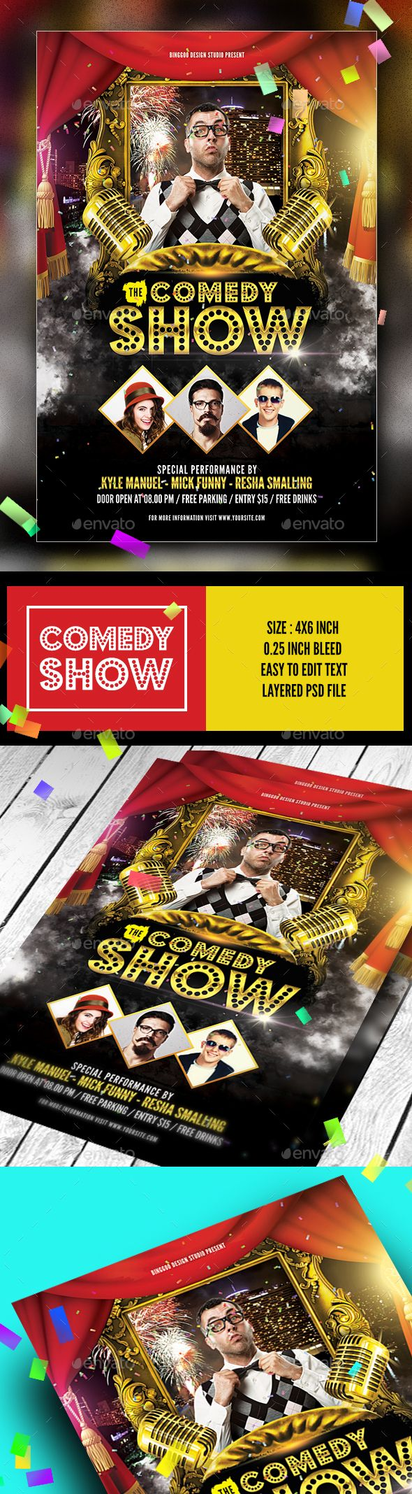 Comedy Show Flyer  Event Flyers Font Logo And Flyer Template