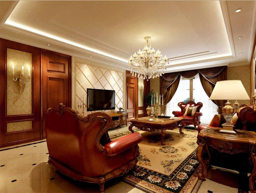 Classic interior design idea fashion leaves style for Sitting room interior design