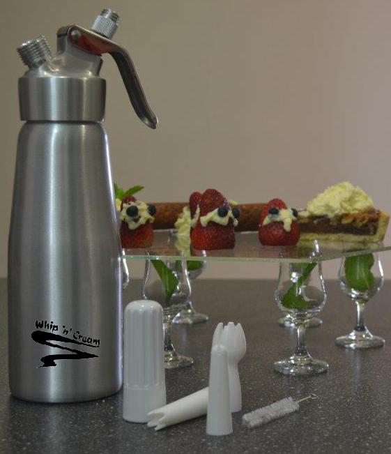 Whipped Cream Dispenser from Whip'n'Cream for pressurized