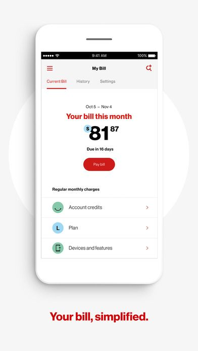 My Verizon App, How to plan, Credit account
