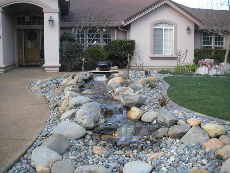 Front yard landscaping with rocks the amusing pics above for River rock landscaping