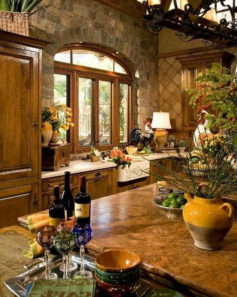 61+ Magnificent Rustic Interior With Italian Tuscan Style