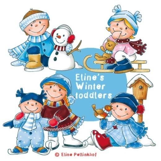 Eline's Coloured Digi Set - Winter Toddlers