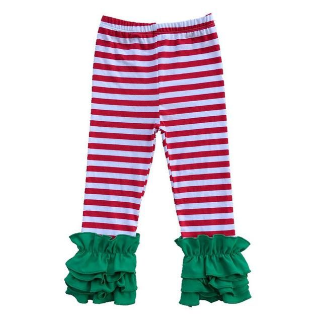 Girls Ruffle Leggings -Various Colors
