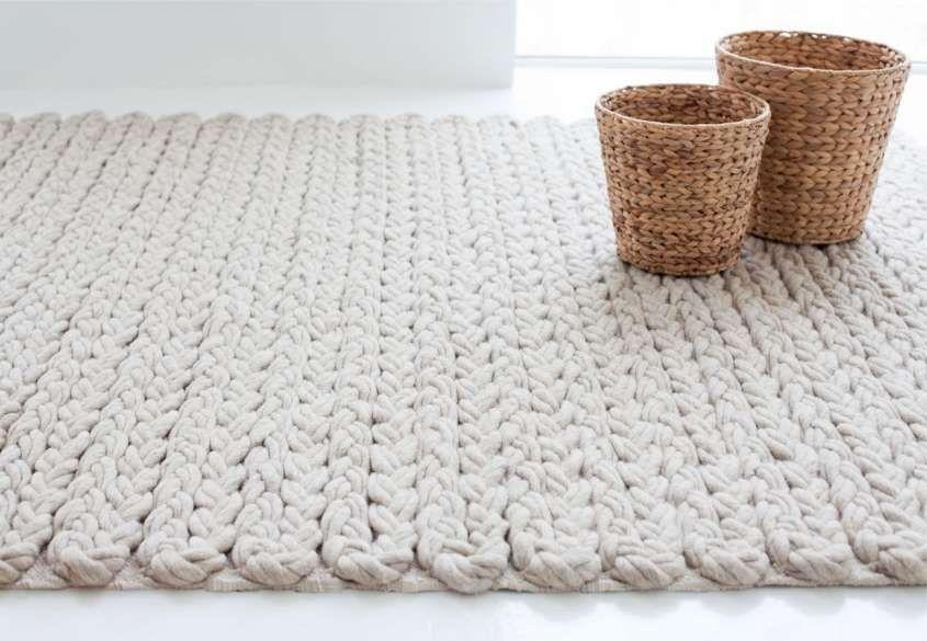 Tappeti di lana fai da te Tappeto moderno bianco