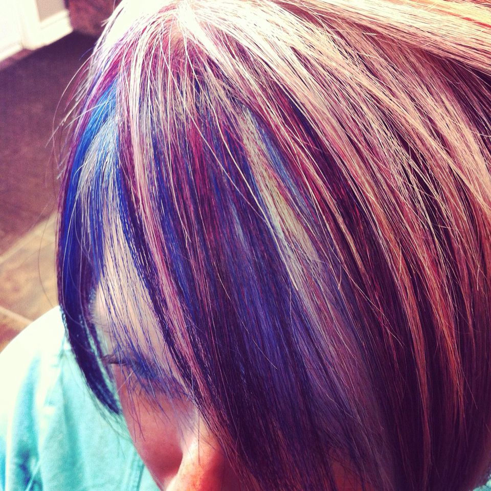 Joico rocks funk up that blonde colour with joici intensity ruby