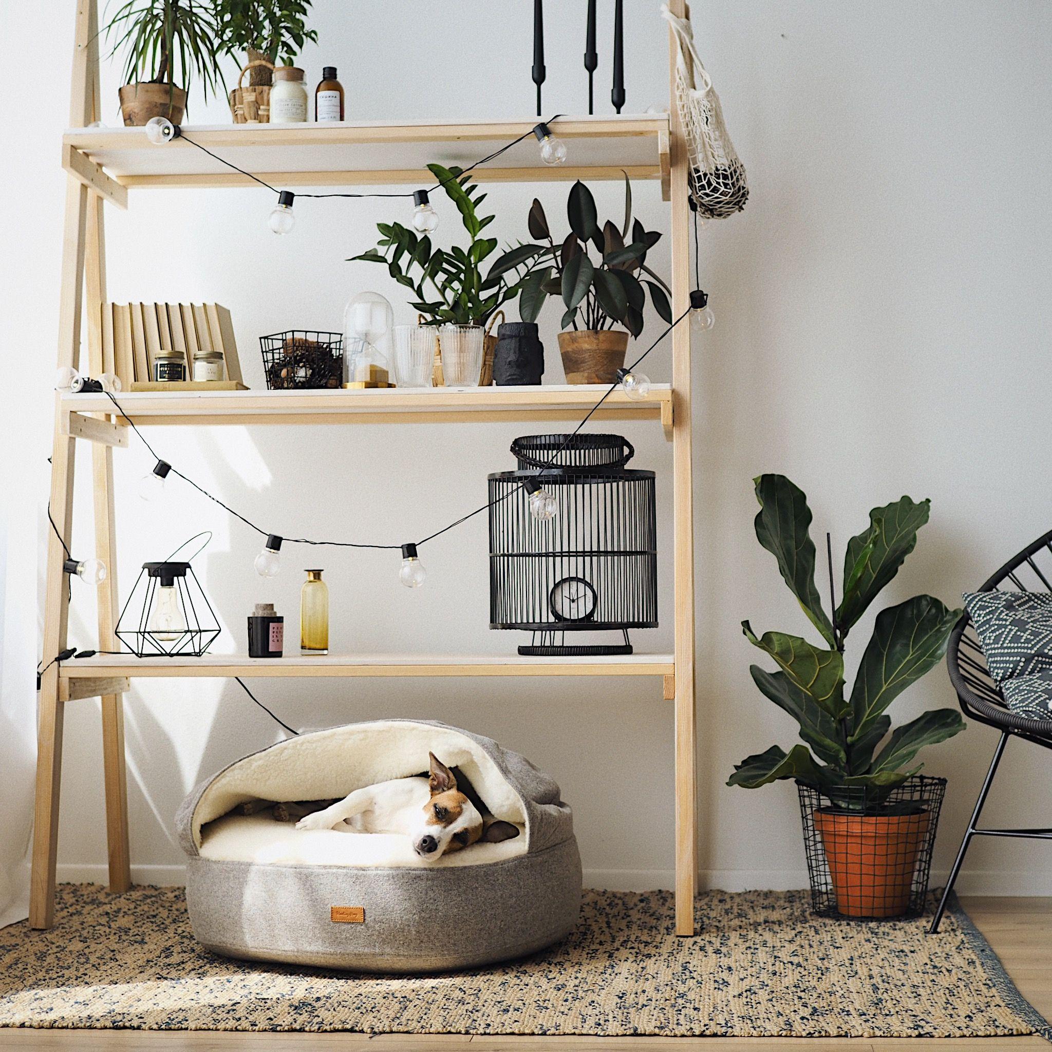 Round Dog Bed Washable Designer Pet House Handmade Dog