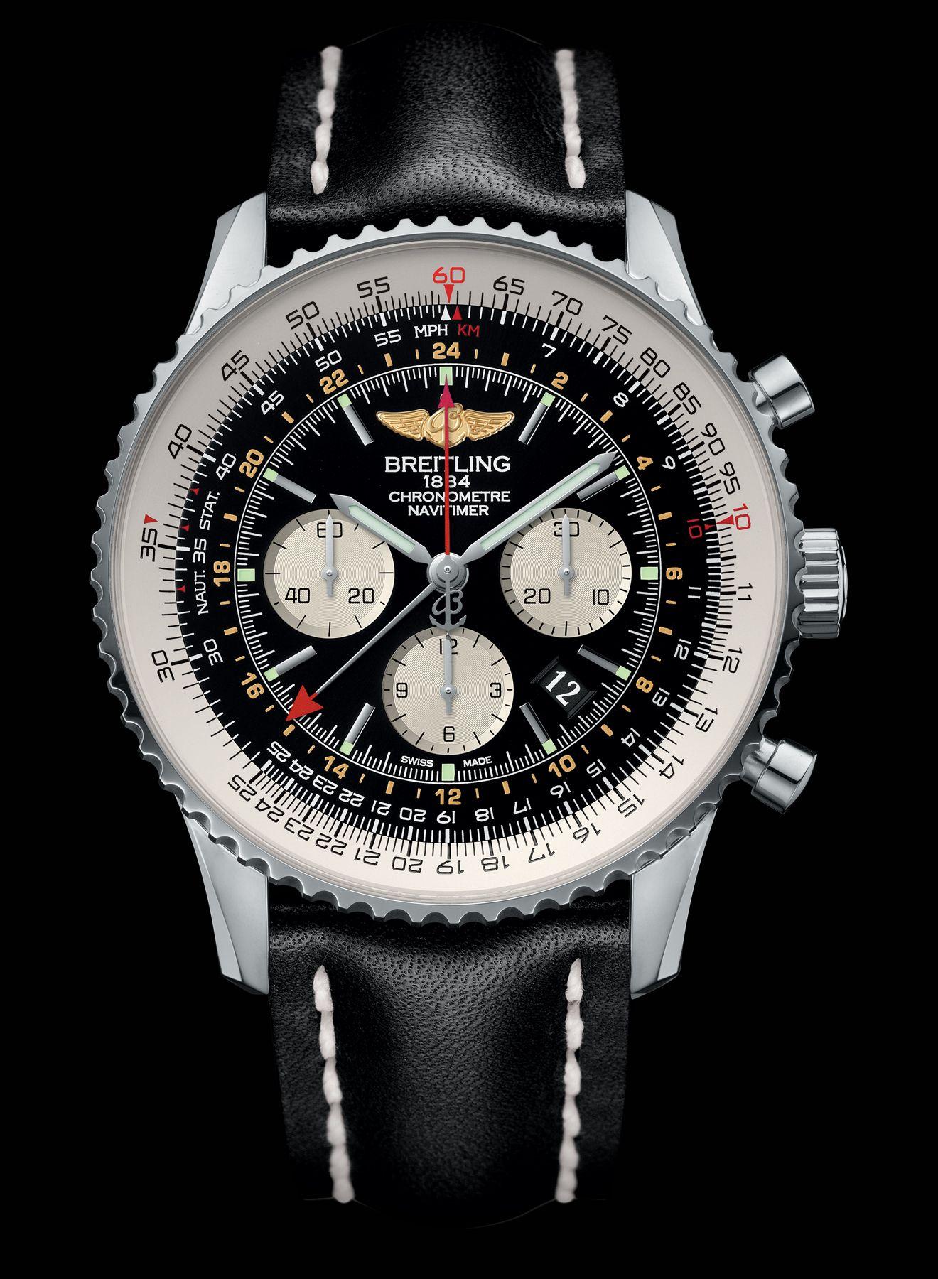 Navitimer GMT - Breitling - Instruments for Professionals | Breitling  navitimer, Breitling, Breitling watches mens