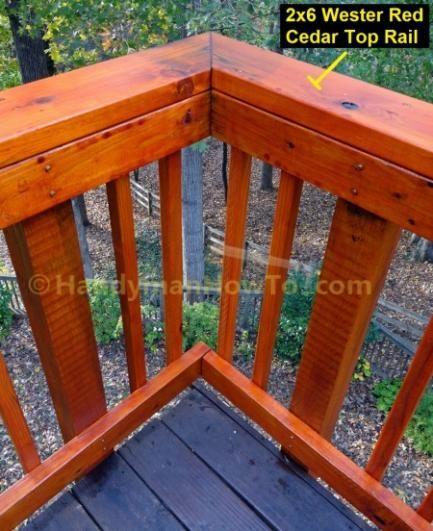 Name Build Wood Deck Rail Outside Corner Construction Deck
