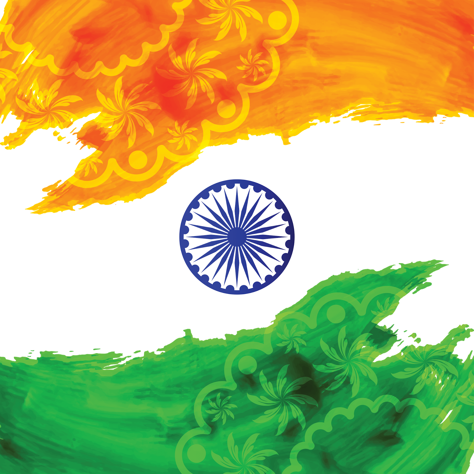 Indian Flag Png Vector 01 1600x1600