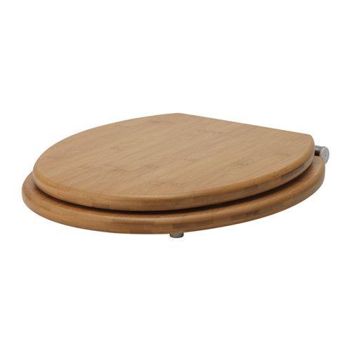 IKEA - RÅGRUND, Wc-istuimen kansi, Helppo irrottaa ja puhdistaa.Sopii useimpiin wc-istuimiin säädettävien kiinnikkeiden ansiosta.Valmistettu helppohoitoisesta ja kestävästä luonnollisesta bambusta.