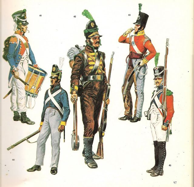 MILITARY MINIATURES BY Alfons Canovas: War of Independence Española.- Costumes of different nations who intervened