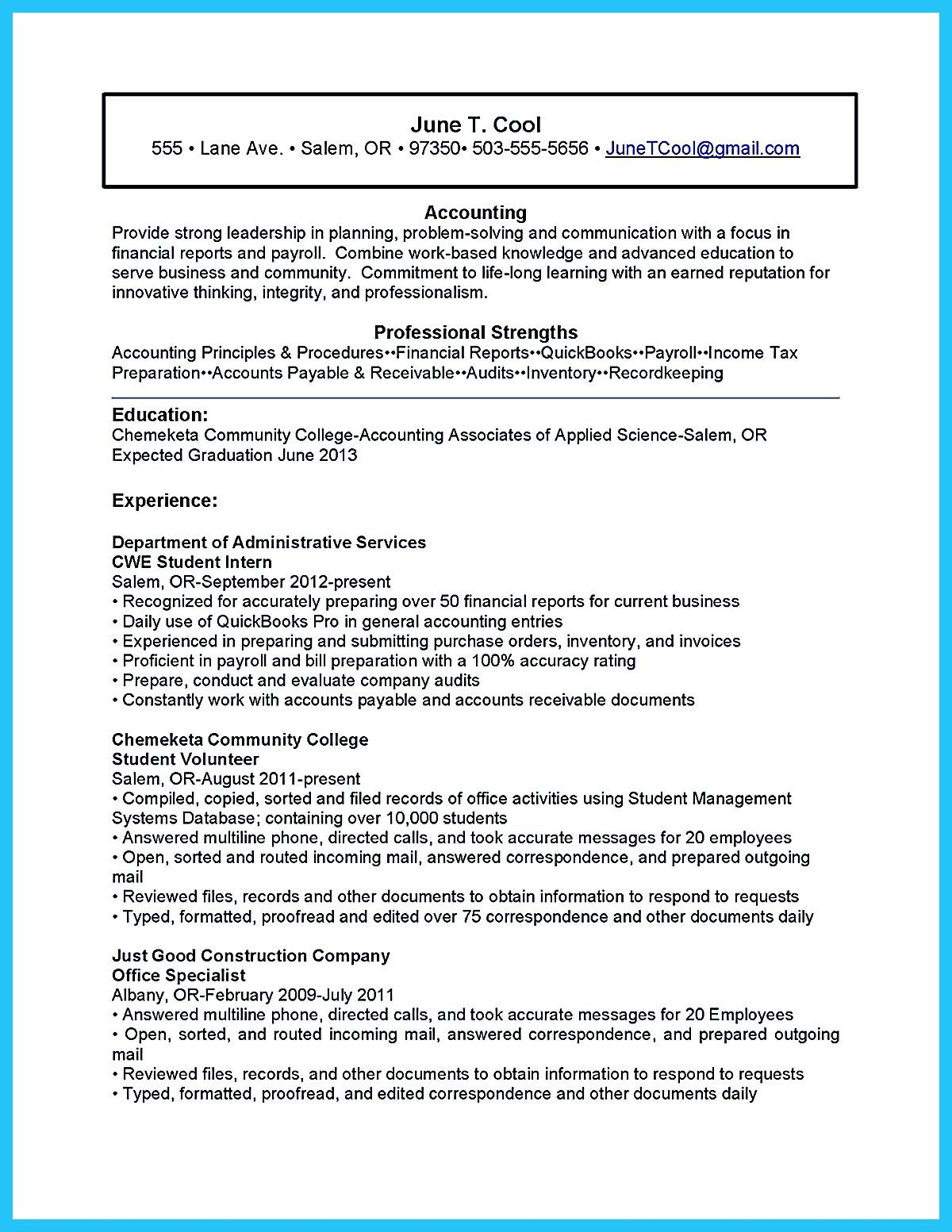 Accounting Student Resume Here Presents How The Resume Of Accounting Student Clearly Made The Accounting Student Resume No Experience Will Focus On T Accoun