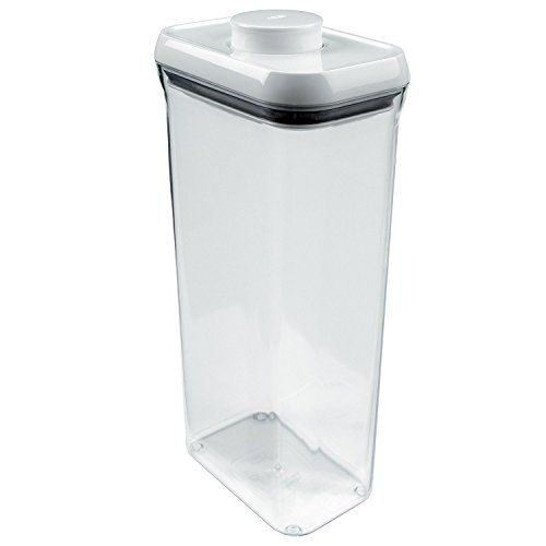 OXO Good Grips POP Square Food Storage Container, Rectangle Lid, Tall   3.4  Qt