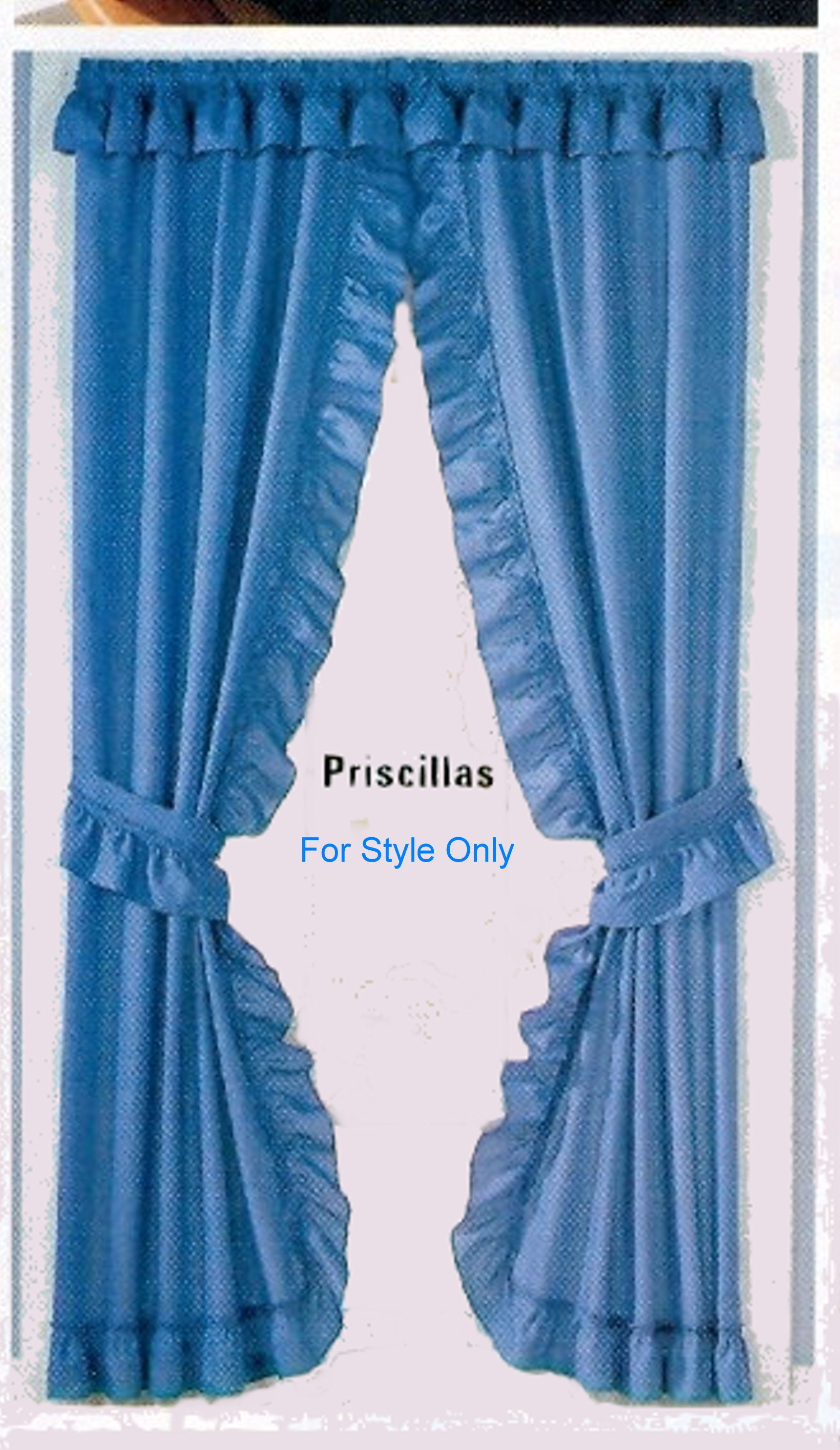 Image detail for -Ruffled BLUE Priscilla Curtain Style:RLPS ...