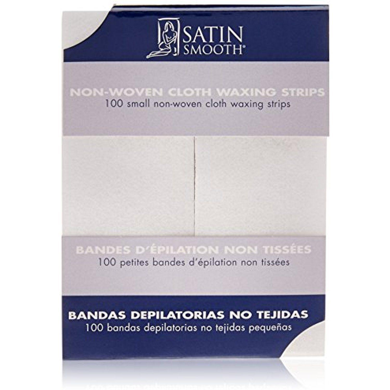 SATIN SMOOTH Small Nonwoven Cloth Waxing Strips >>> You