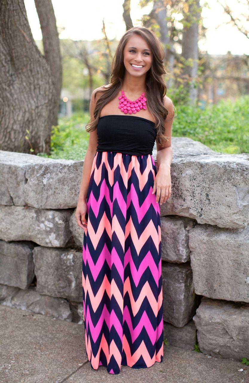 Feel The Breeze Fuschia Maxi Chevron Dress Maxi Fashion Cute Maxi Dress [ 1280 x 833 Pixel ]