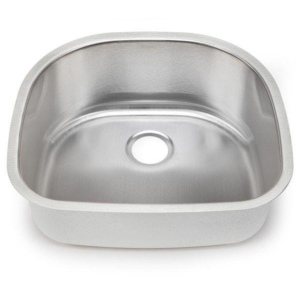 Blanco Stellar Gauge Steel Shaped Single Bowl Kitchen Sink Shaped Stainless  Steel Undermount Sink Kitchen Sinks