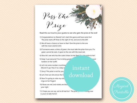 bs437 pass the prize vintage white flower bridal bridal shower gamesbaby