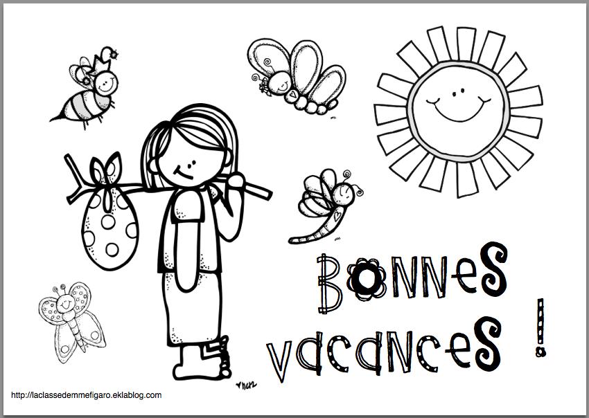 Coloriage Gratuit Vacances Ete.Coloriage Bonnes Vacances End Of Year Activities French