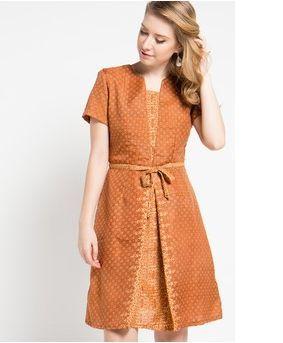Model Dress Batik Modern Elegan Di 2019 Model Pakaian