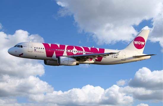 WOW Iceland airplane