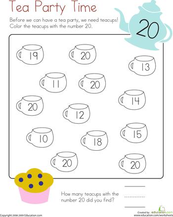 Number 20 Coloring Page Worksheets Kindergarten And Kindergarten