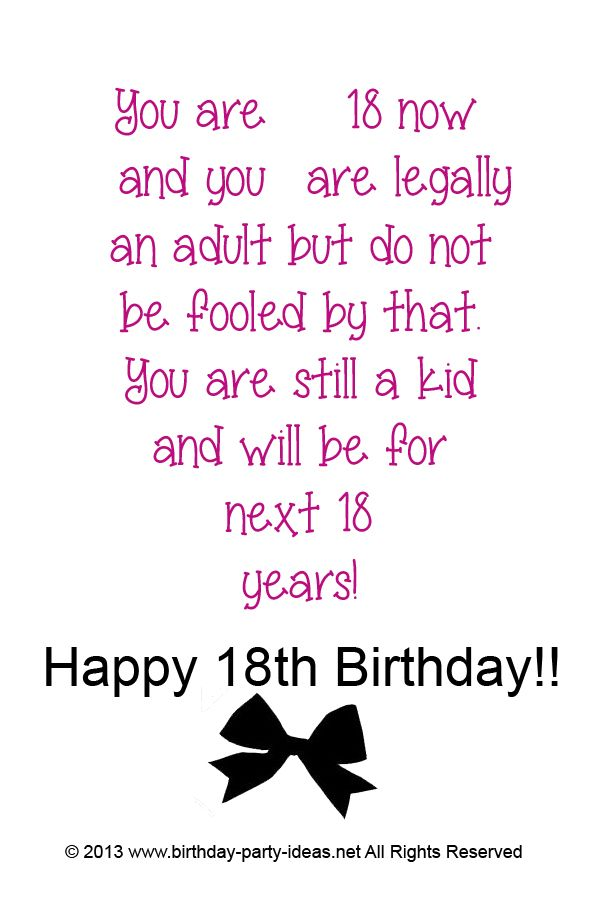 18th Birthday Party Games Ideas Birthday Party Ideas Happy 18th Birthday Son 18th Birthday Cards Happy 18th Birthday Quotes